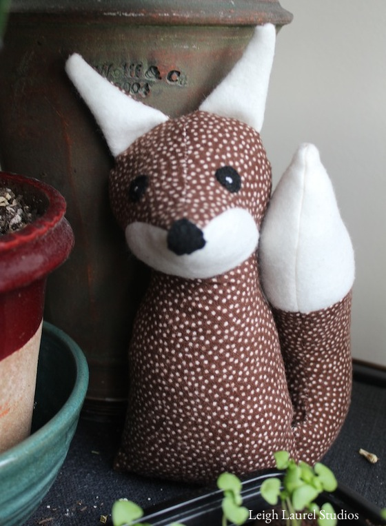 Fox with plants