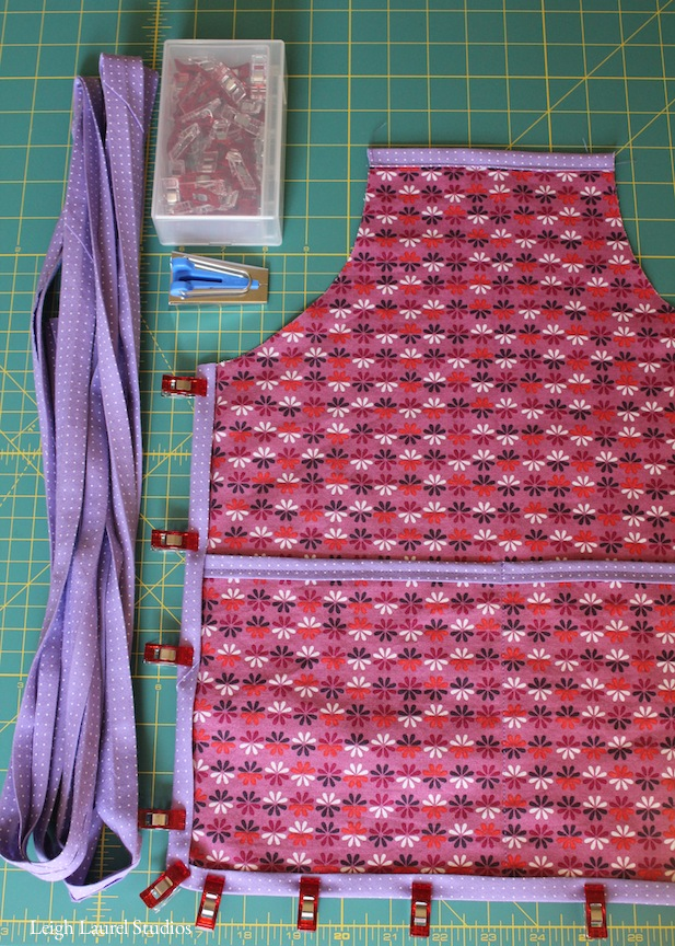 Childs apron in process