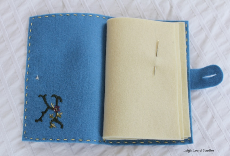 Needle book open
