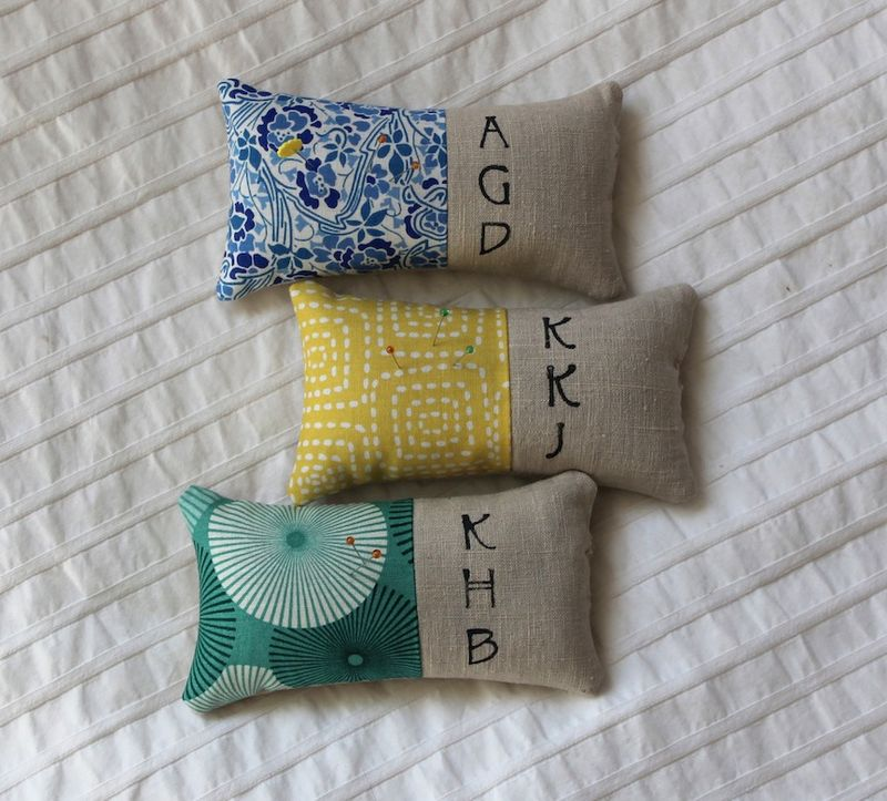 Zakka pincushion trio