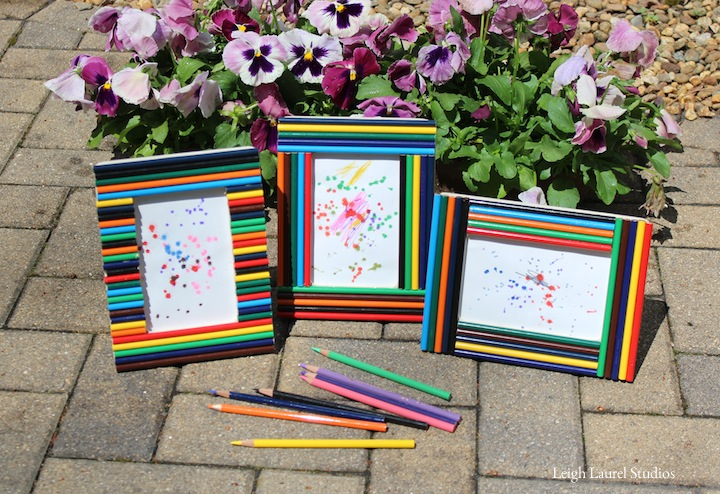 Craft With Kids Making Colored Pencil Picture Frames Karin Jordan