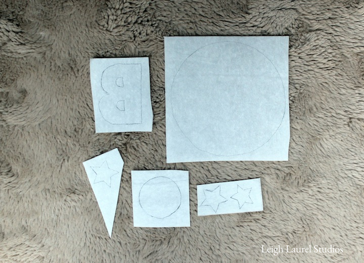 Tracing pattern onto fusible web