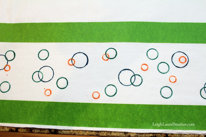 Circle tea towel 4