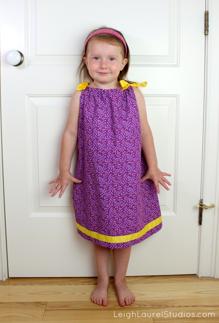 How To Make A Pillowcase Dress That Ties In The Back