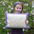 Embroidered child's drawing