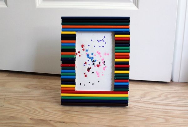 Craft With Kids Making Colored Pencil Picture Frames