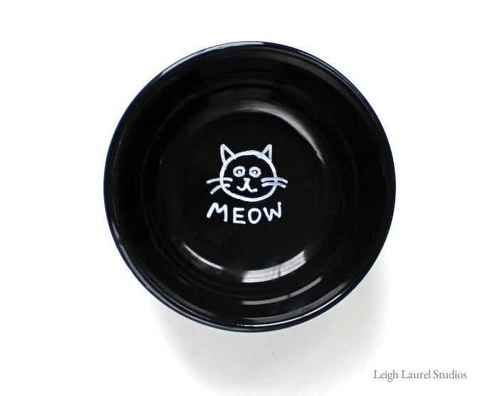Cat meow bowl