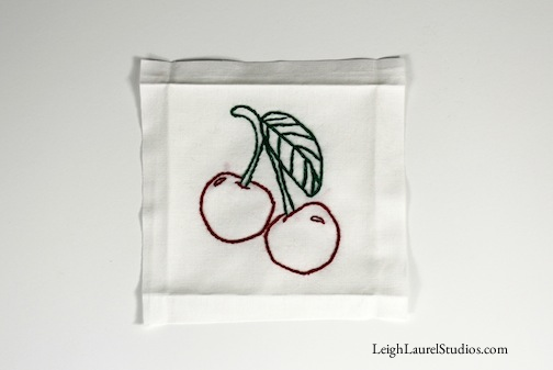 Cherry tea towel 11
