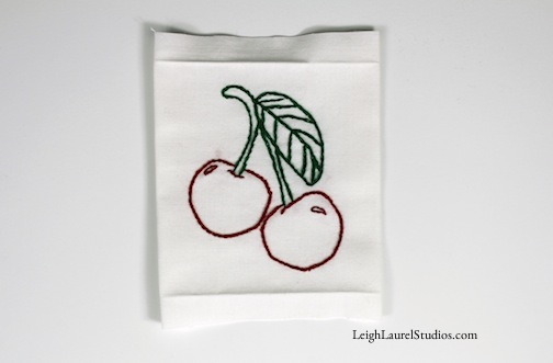 Cherry tea towel 12