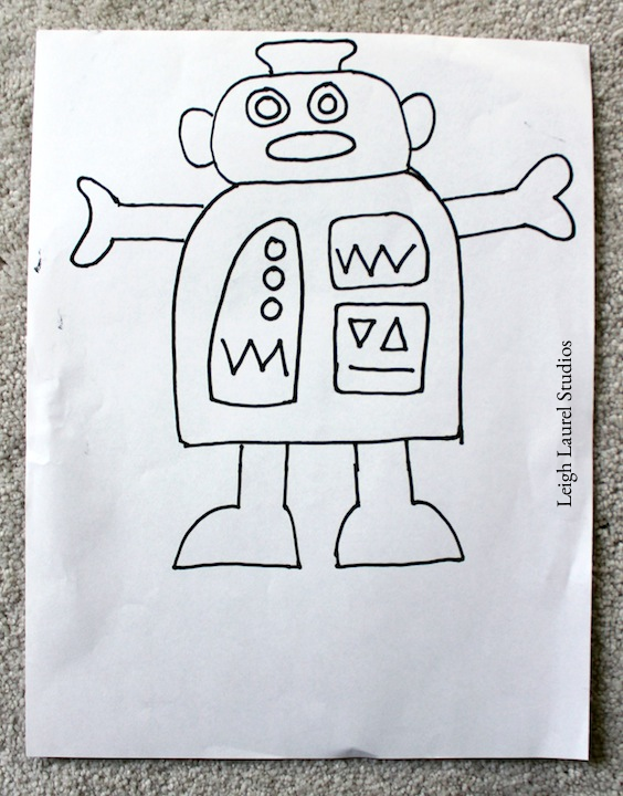 Chevron robot drawing