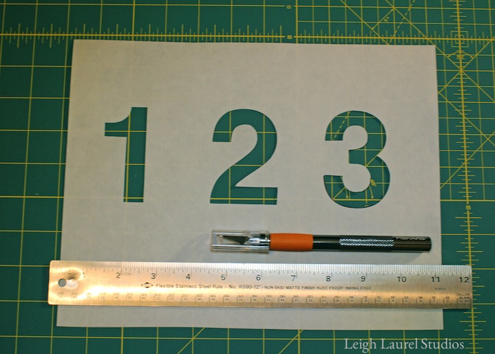 Cutting number stencils