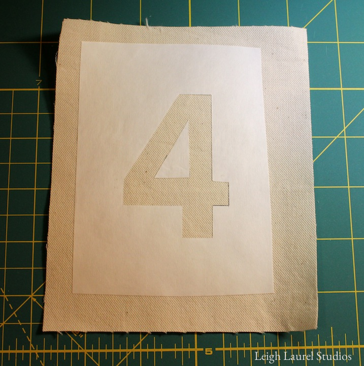 3 freezer paper on fabric