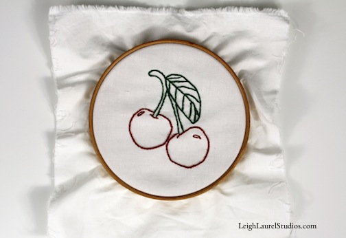 Cherry tea towel 9