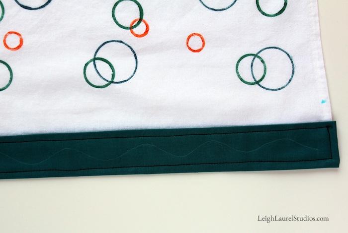 Circle tea towel 7