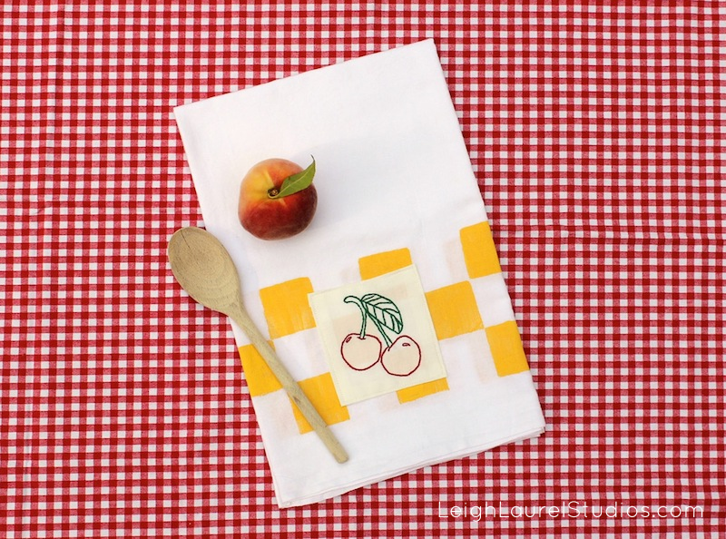 Cherry tea towel 3