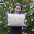 Embroidered kids drawing