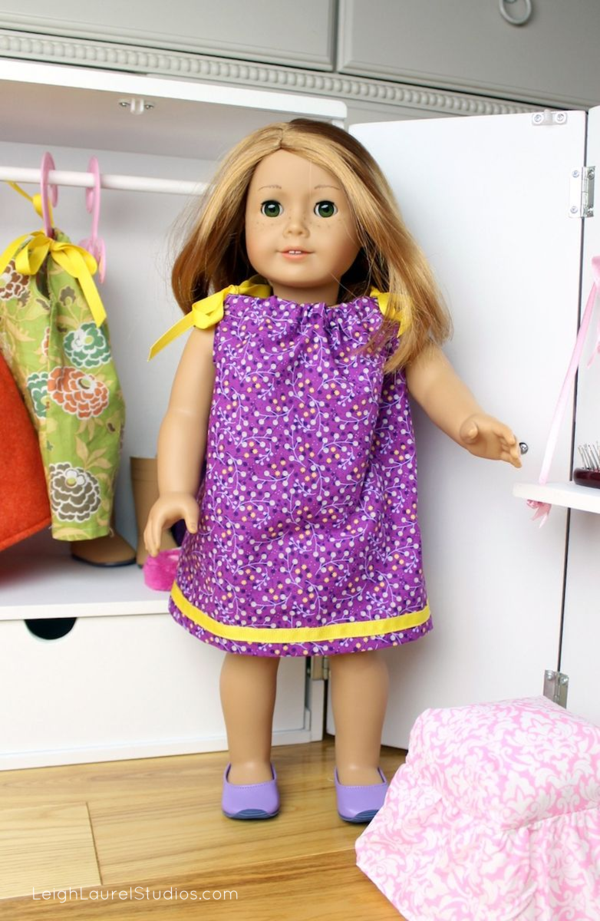 Pillowcase Dress Pattern For American Girl Doll: Tutorial  Pillowcase Dress with Ribbon Trim for 18