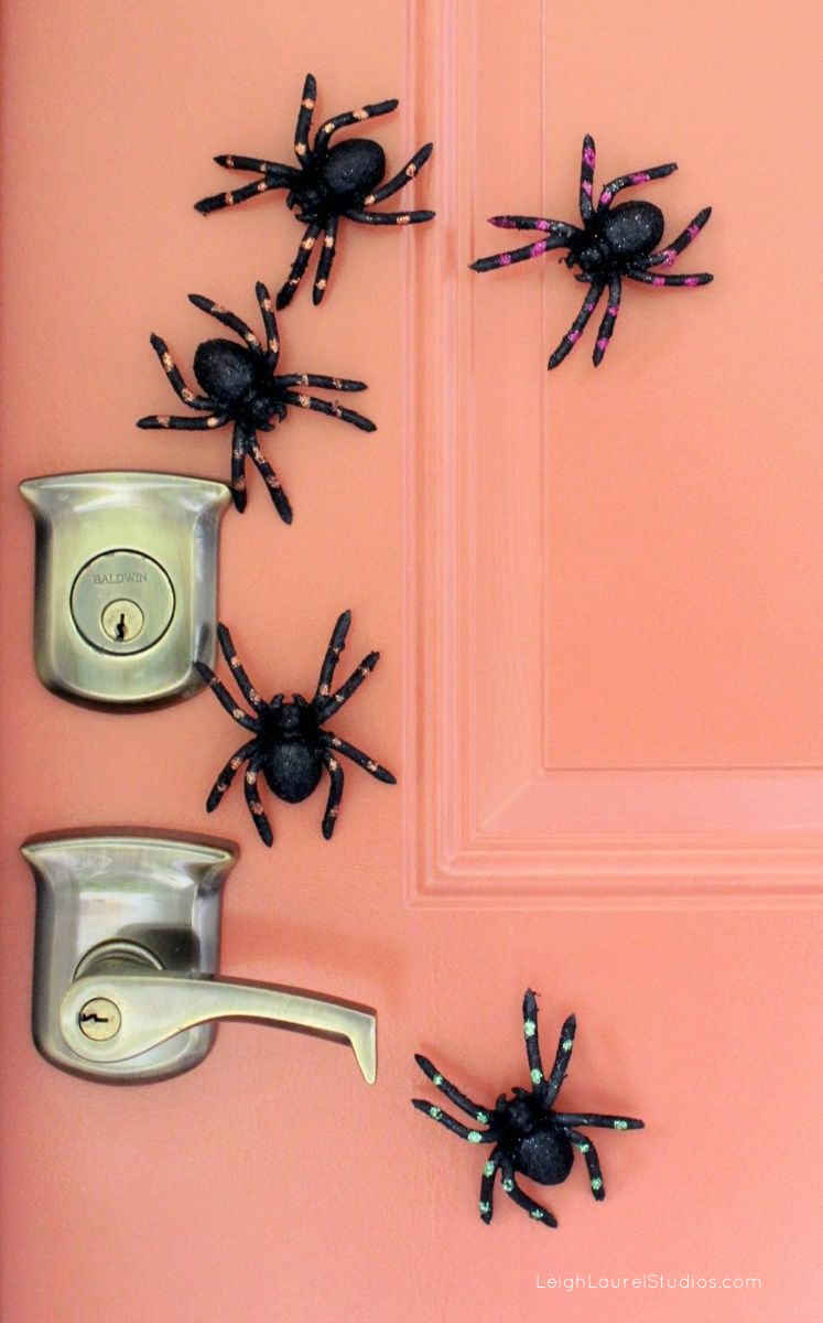 Spiders on door 1