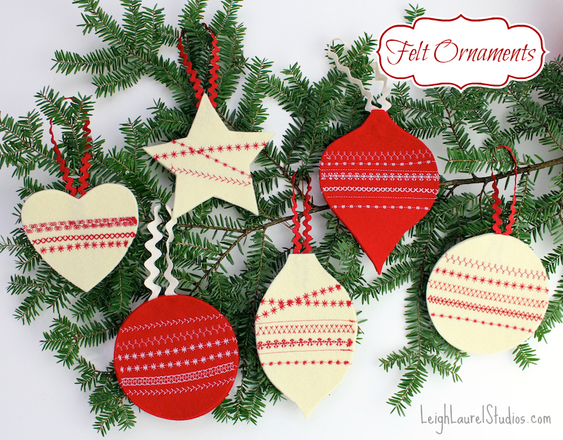 B felt ornaments pm