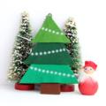 Small santa with tree
