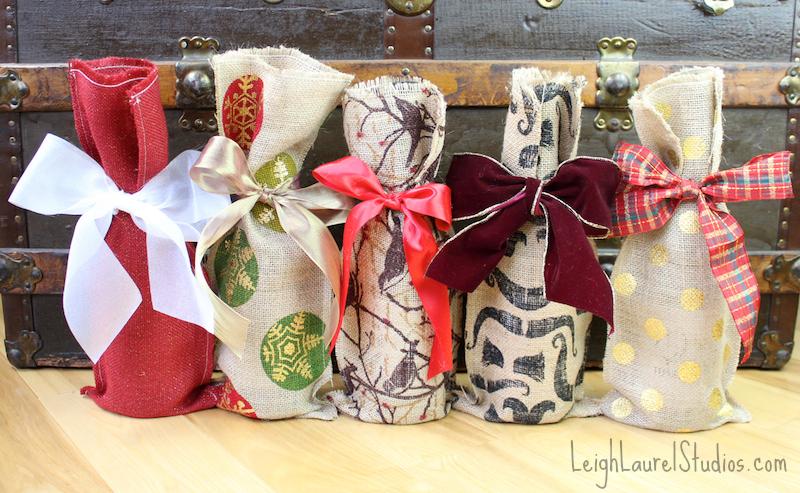 Burlap wine bags 2