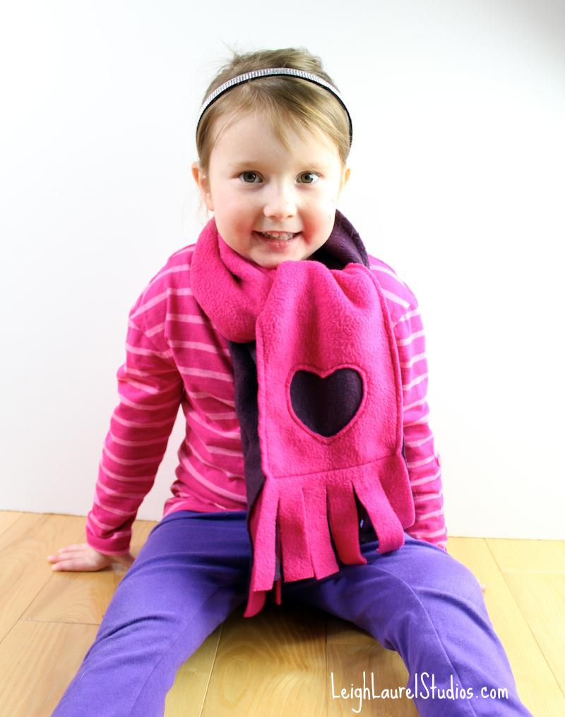 Детский шарф из флиса своими руками 12