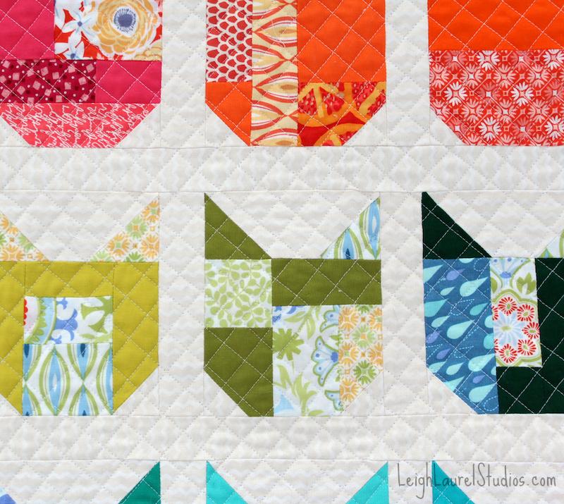Cat quilt detail pm