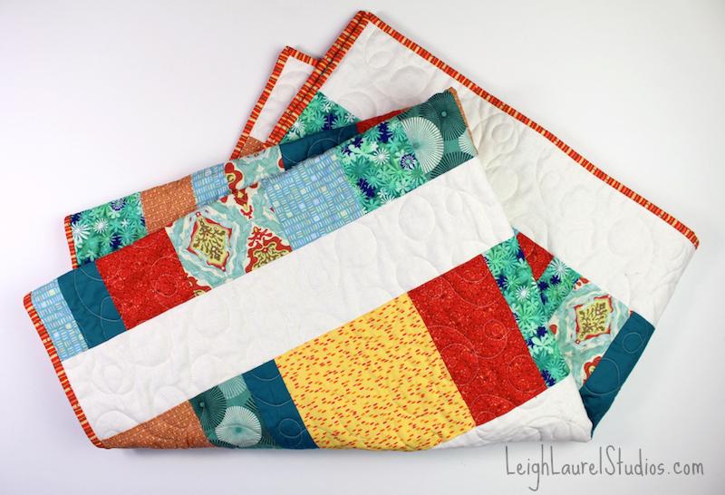 Green orange quilt 2 pm