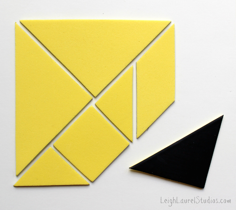 Magnetic tangrams - a leigh laurel studios tutorial