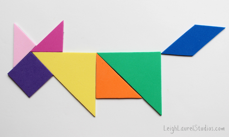 Running fox tangram - leigh laurel studios tutorial