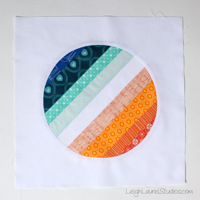 Circle string block by karin jordan - leigh laurel studios