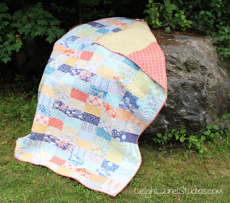 Ebb and Flow free quilt pattern by Karin Jordan of Leigh Laurel Studios for Pellon Projects