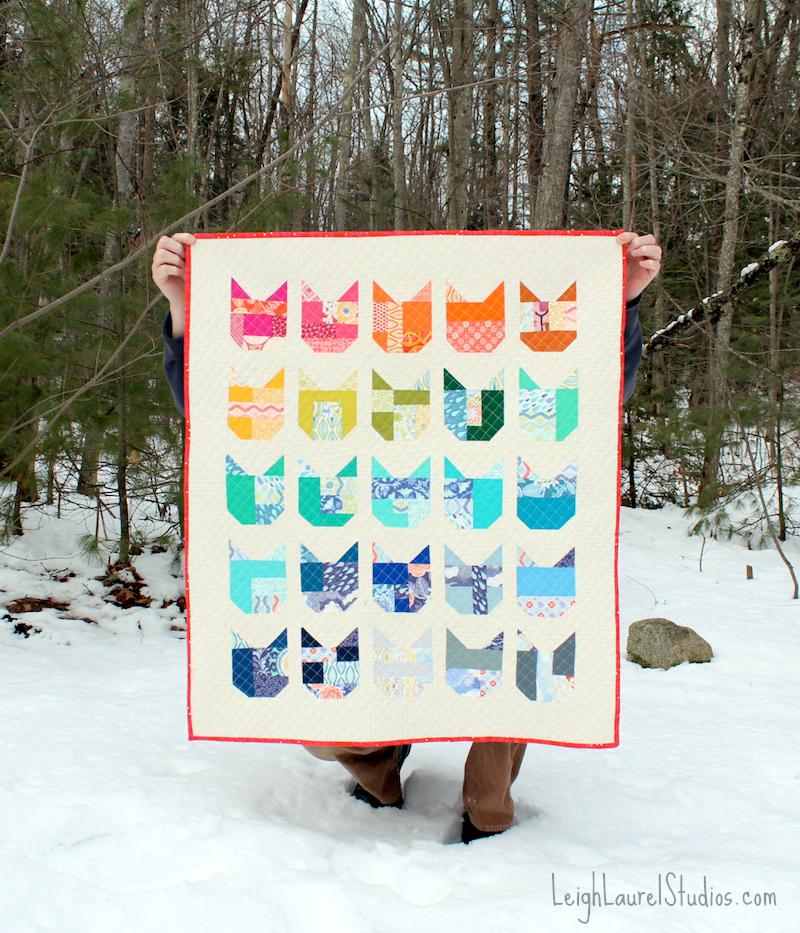 Cat quilt 1 pm
