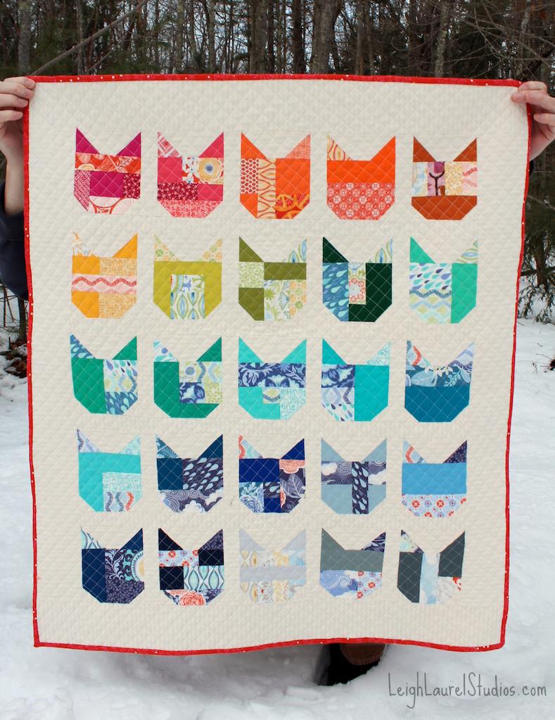 Cat quilt 2 pm