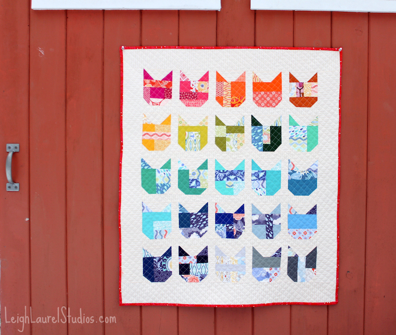 Cat quilt on door pm