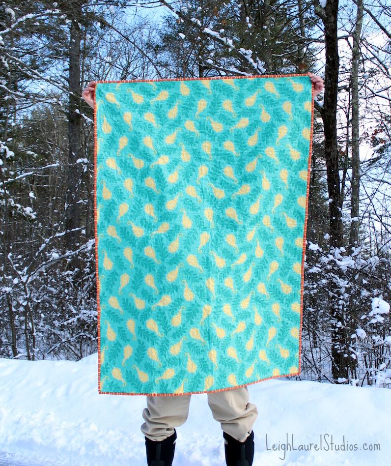 Green orange quilt back pm