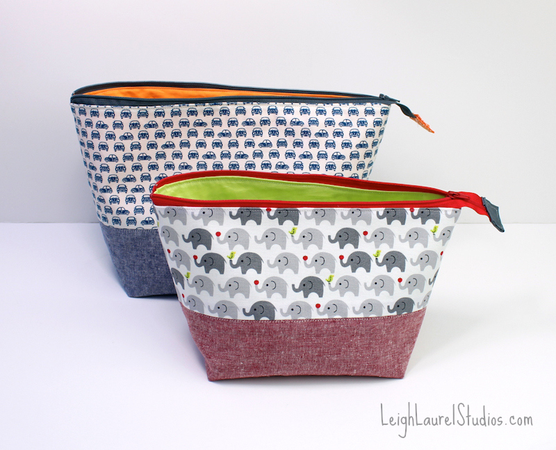 Open Wide Zippered Pouches {a Noodlehead Pattern} Karin