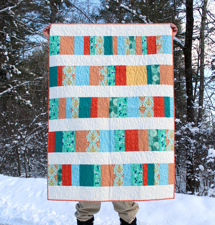 Green orange quilt full 2 pm