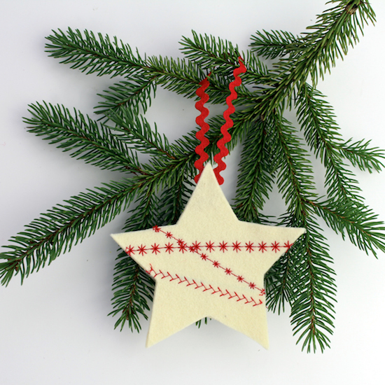 C felt star ornament