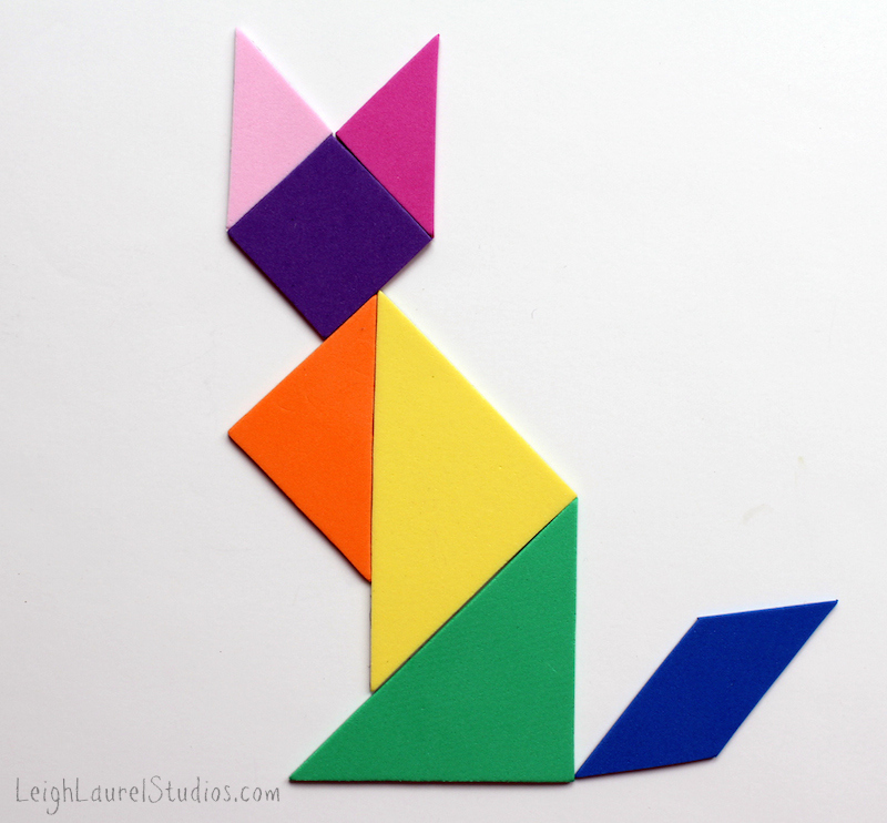 Sitting fox tangram - a leigh laurel studios tutorial