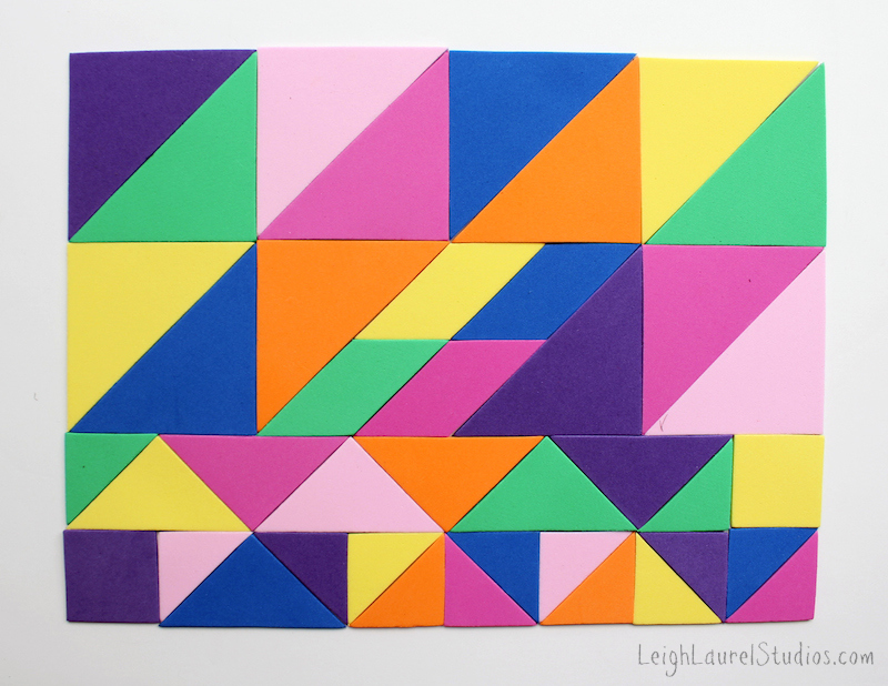 Tangrams - a leigh laurel studios tutorial