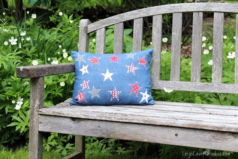Star pillow by leigh laurel studios