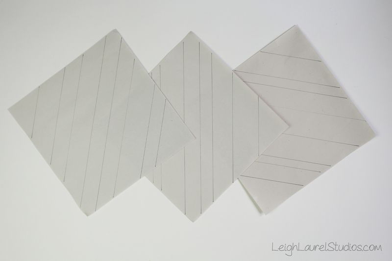 Paper pieced strip block templates by Leigh Laurel Studios