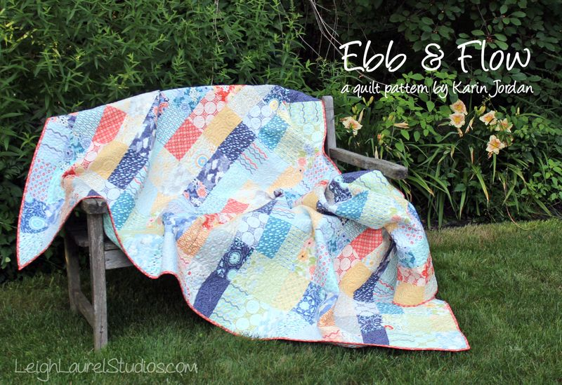 Ebb and Flow by Karin Jordan of Leigh Laurel Studios - free pattern for Pellon Projects