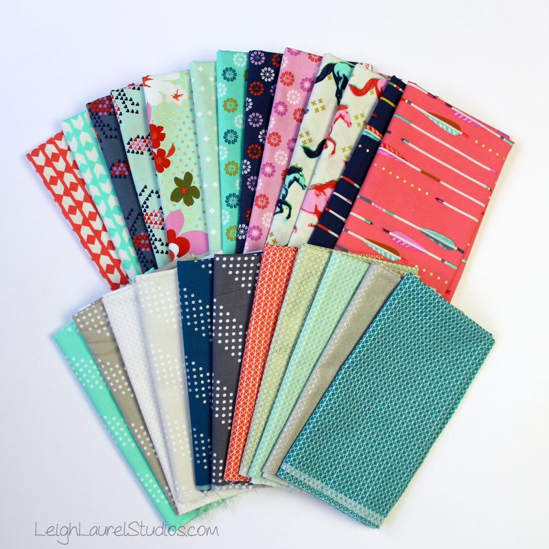 Mostly mustang - fabric pull by leigh laurel studios