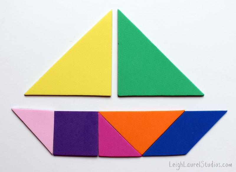 Boat tangram - a leigh laurel studios tutorial