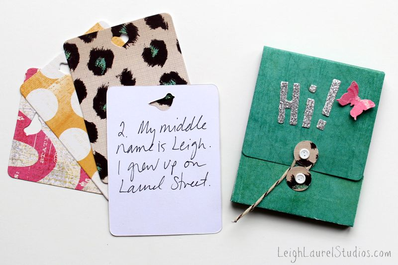 Matchbox with 25 things about me by Karin Jordan for Sizzix