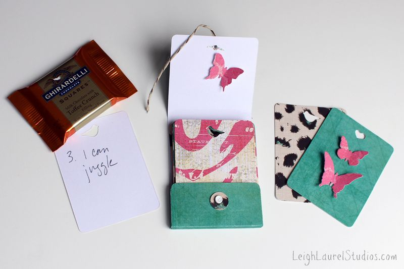 Matchbox with chocolate and 25 cards by Karin Jordan for Sizzix