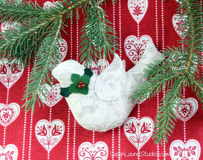 Bird ornament by Karin Jordan of Leigh Laurel Studios