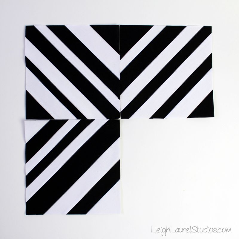 Black and white paper pieced strip blocks by Leigh Laurel Studios.jpg